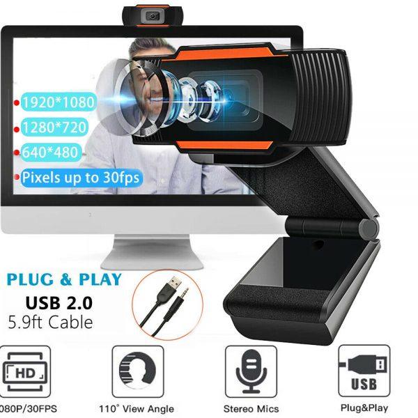 1080p Hd Webcam With Microphone Usb Web Camera For Pc Laptop Desktop Computer (47)