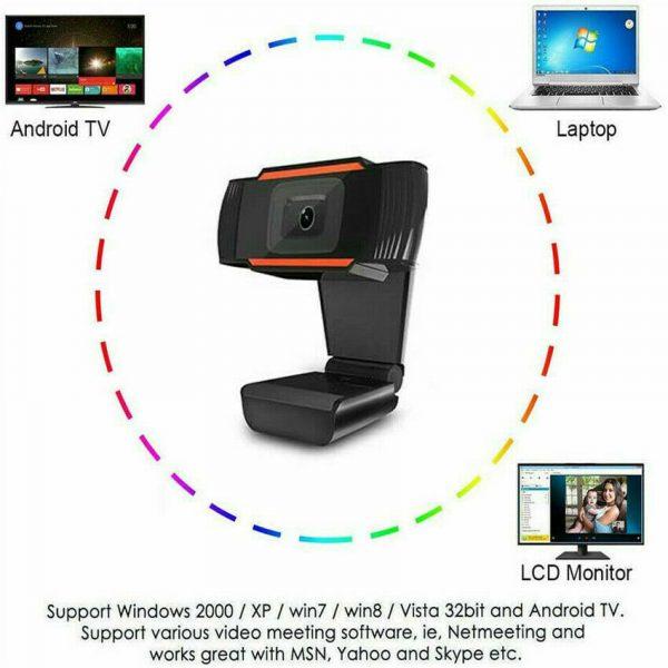 1080p Hd Webcam With Microphone Usb Web Camera For Pc Laptop Desktop Computer (64)