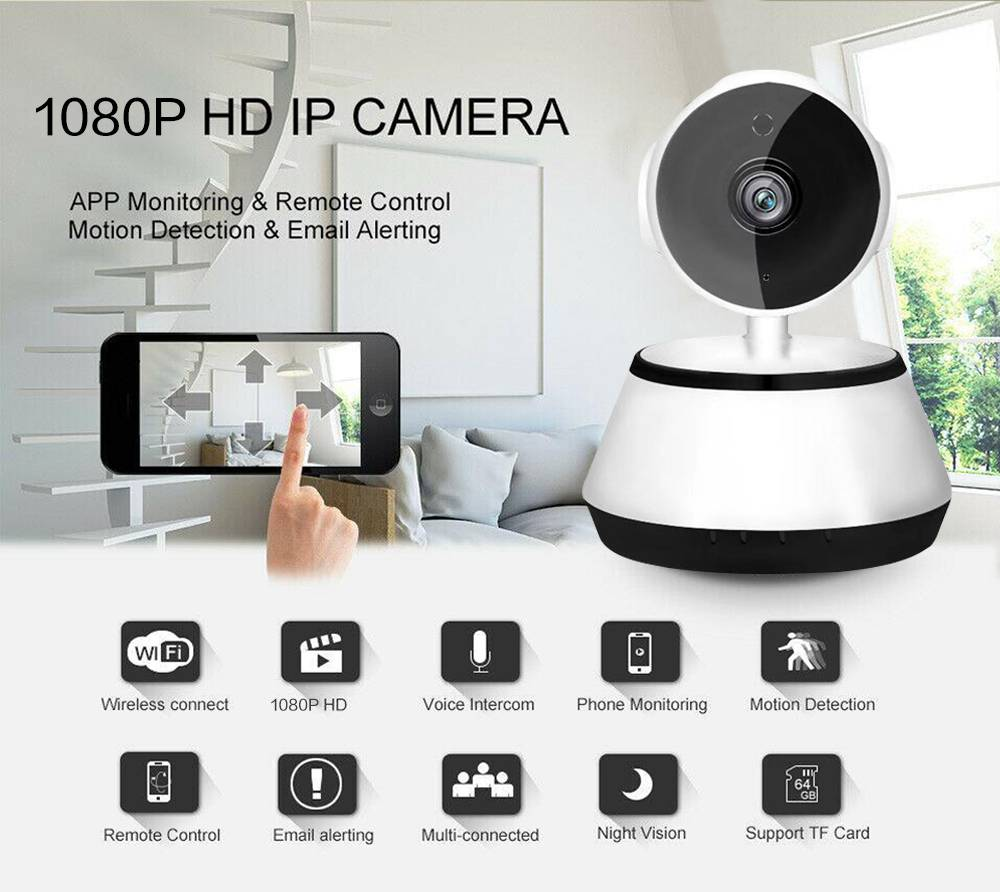 1080p Hd Wireless Wi Fi Smart Home Ip Cctv Camera Indoor Security Night Vision (1)
