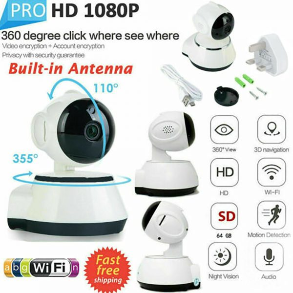 1080p Hd Wireless Wi Fi Smart Home Ip Cctv Camera Indoor Security Night Vision (5)