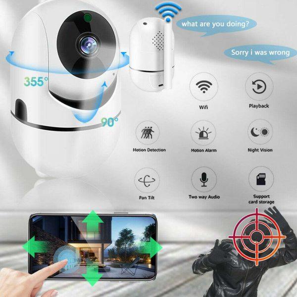 1080p Wireless Cctv Ip Camera Cloud Wifi Camera Auto Tracking Home Security (2)