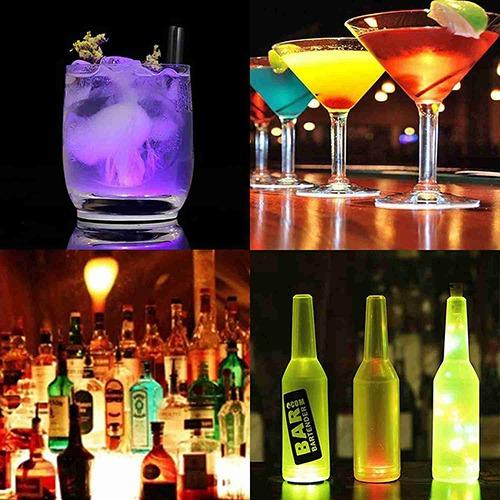 10pcs Led Coaster Light Up Drink Bottle Cup Mat Glow Club Party Bar Decor New (14)