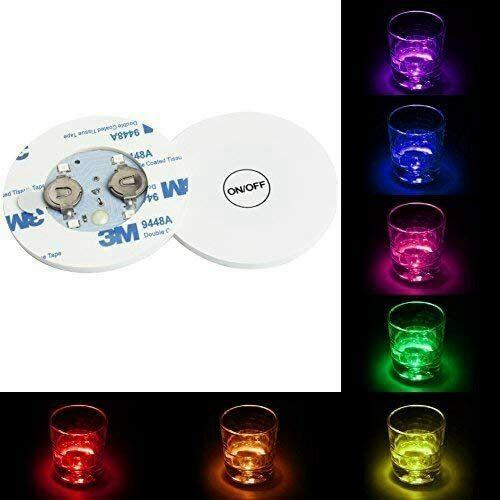10pcs Led Coaster Light Up Drink Bottle Cup Mat Glow Club Party Bar Decor New (17)