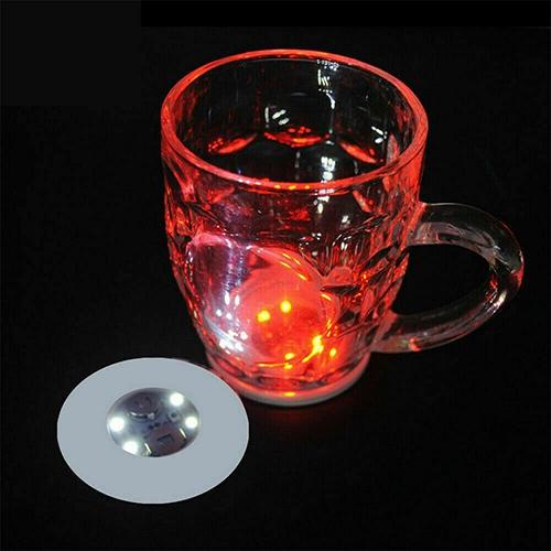 10pcs Led Coaster Light Up Drink Bottle Cup Mat Glow Club Party Bar Decor New (22)