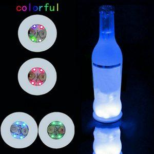 10pcs Led Coaster Light Up Drink Bottle Cup Mat Glow Club Party Bar Decor New (27)