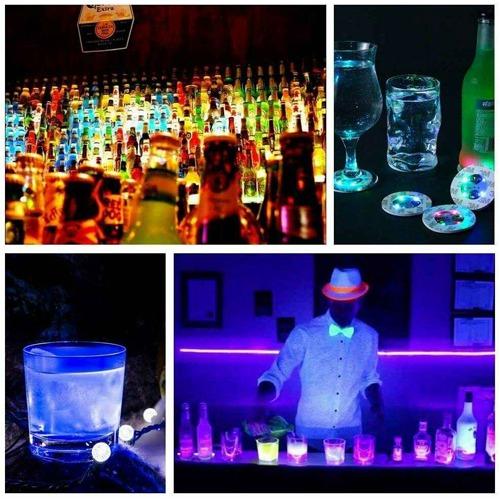 10pcs Led Coaster Light Up Drink Bottle Cup Mat Glow Club Party Bar Decor New (4)