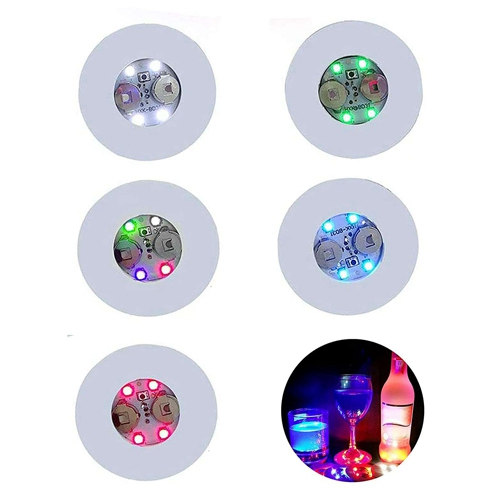 10pcs Led Coaster Light Up Drink Bottle Cup Mat Glow Club Party Bar Decor New (8)