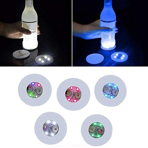 10pcs Led Coaster Light Up Drink Bottle Cup Mat Glow Club Party Bar Decor New (9)
