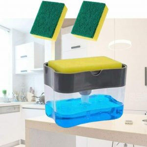 2 In 1 Pump Soap Dispenser And Sponge Caddy Holder For Dish Soap With Sponge1