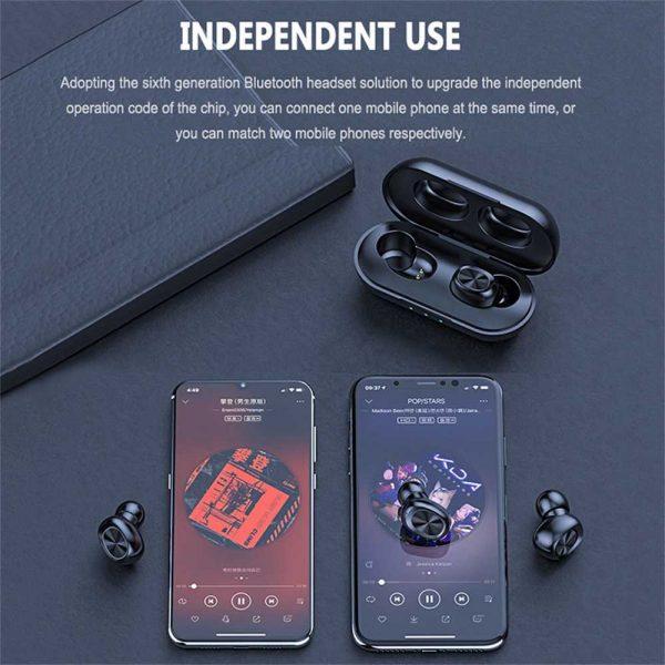 2021 Bluetooth 5.0 Wireless Headphones Earphones Mini In Ear Earbuds Android & Ios (11)