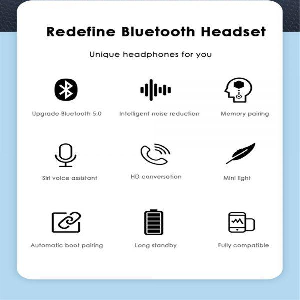 2021 Bluetooth 5.0 Wireless Headphones Earphones Mini In Ear Earbuds Android & Ios (15)