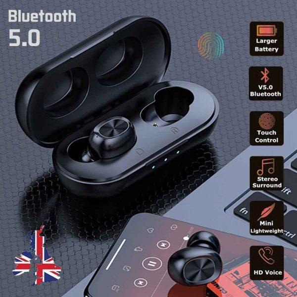2021 Bluetooth 5.0 Wireless Headphones Earphones Mini In Ear Earbuds Android & Ios (2)
