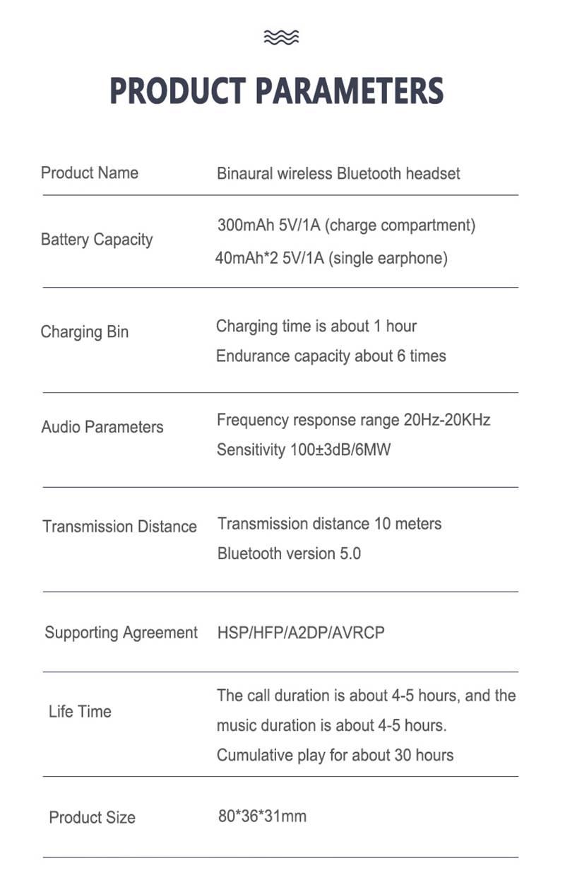 2021 Bluetooth 5.0 Wireless Headphones Earphones Mini In Ear Earbuds Android & Ios (21)