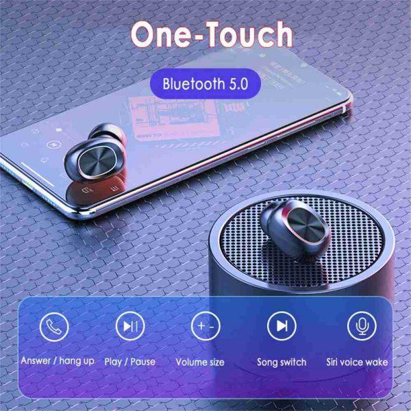 2021 Bluetooth 5.0 Wireless Headphones Earphones Mini In Ear Earbuds Android & Ios (8)
