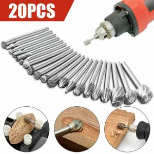 20pcs Shank Set For Wood Carving Woodworking Milling Cutter Rotary Rasp File Bit Tool For Metal Wood (11)