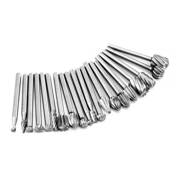 20pcs Shank Set For Wood Carving Woodworking Milling Cutter Rotary Rasp File Bit Tool For Metal Wood (8)