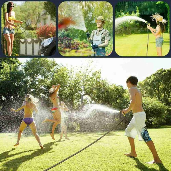 25 200ft Garden Hose Magic Pipe Expandable Compact Flexible Stretch Water Spray (14)