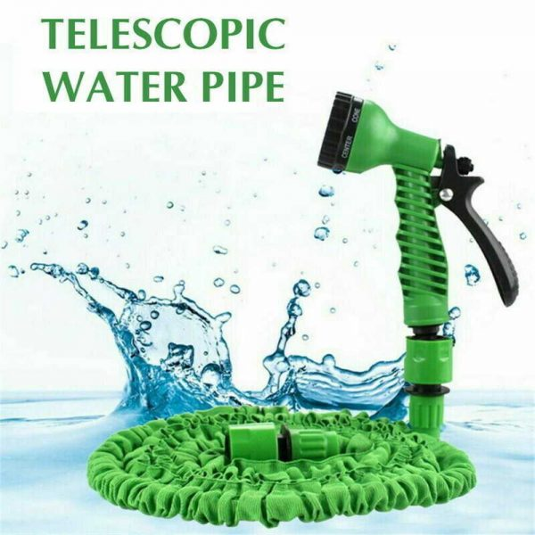 25 200ft Garden Hose Magic Pipe Expandable Compact Flexible Stretch Water Spray (21)