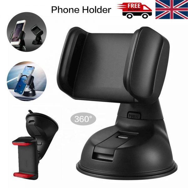 360° In Car Mobile Phone Holder Dashboard Suction Home Universal Mount Windscreen (1)