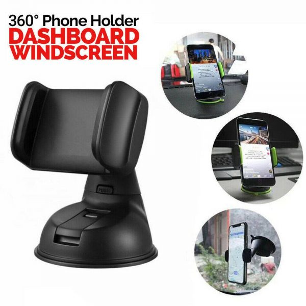 360° In Car Mobile Phone Holder Dashboard Suction Home Universal Mount Windscreen (11)