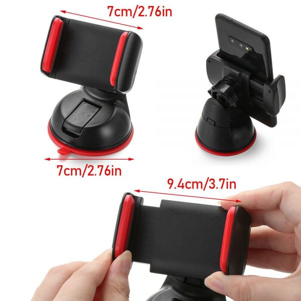 360° In Car Mobile Phone Holder Dashboard Suction Home Universal Mount Windscreen (12)