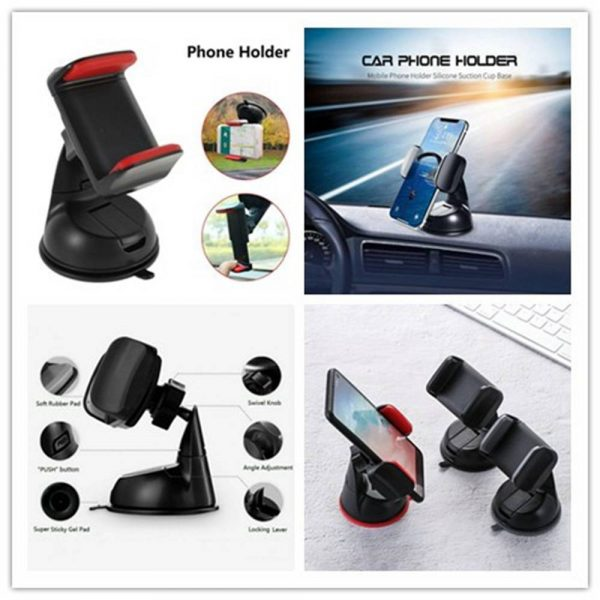 360° In Car Mobile Phone Holder Dashboard Suction Home Universal Mount Windscreen (2)