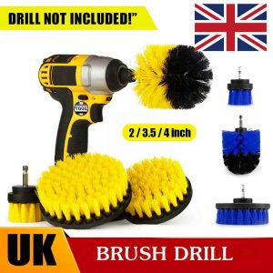 3pc Cleaning Drill Brush Cleaner Tool Electric Power Scrubber Kitchen Bath Car (1)