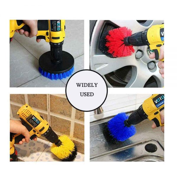 3pc Cleaning Drill Brush Cleaner Tool Electric Power Scrubber Kitchen Bath Car (3)