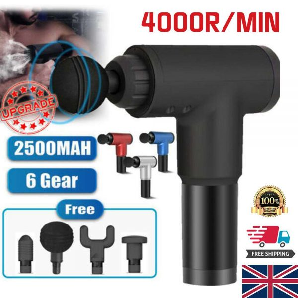 4 Heads Lcd Massage Gun Percussion Massager Muscle Relaxing Therapy Deep Tissue (14)