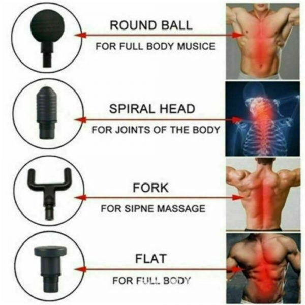 4 Heads Lcd Massage Gun Percussion Massager Muscle Relaxing Therapy Deep Tissue (3)