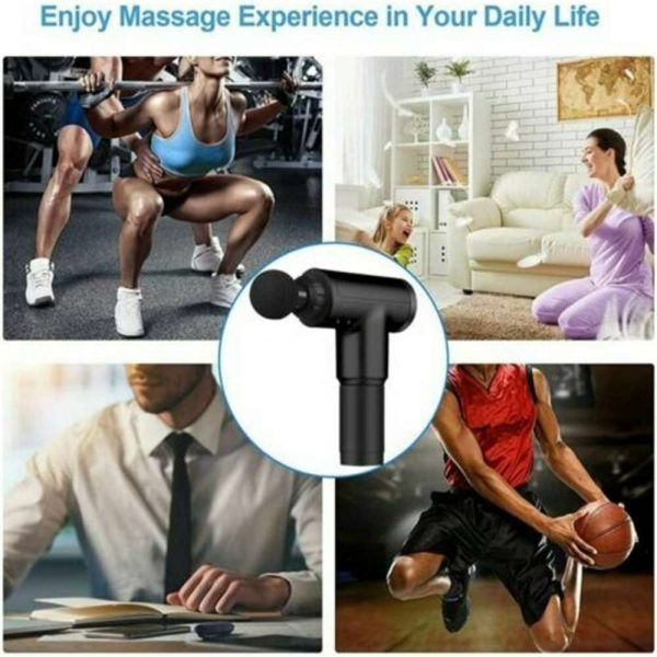 4 Heads Lcd Massage Gun Percussion Massager Muscle Relaxing Therapy Deep Tissue (4)