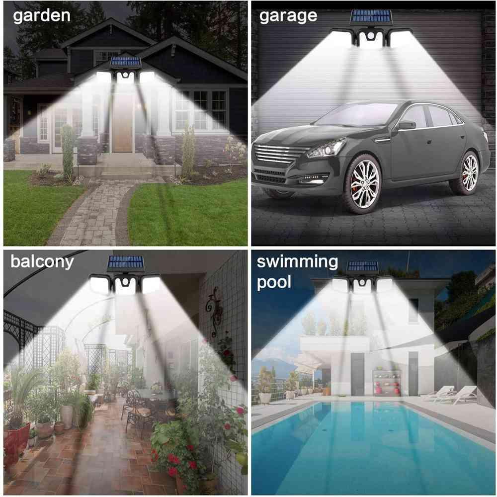 74 Led Solar Powered Pir Motion Sensor Lamp Outdoor Garden Security Wall Light (13)