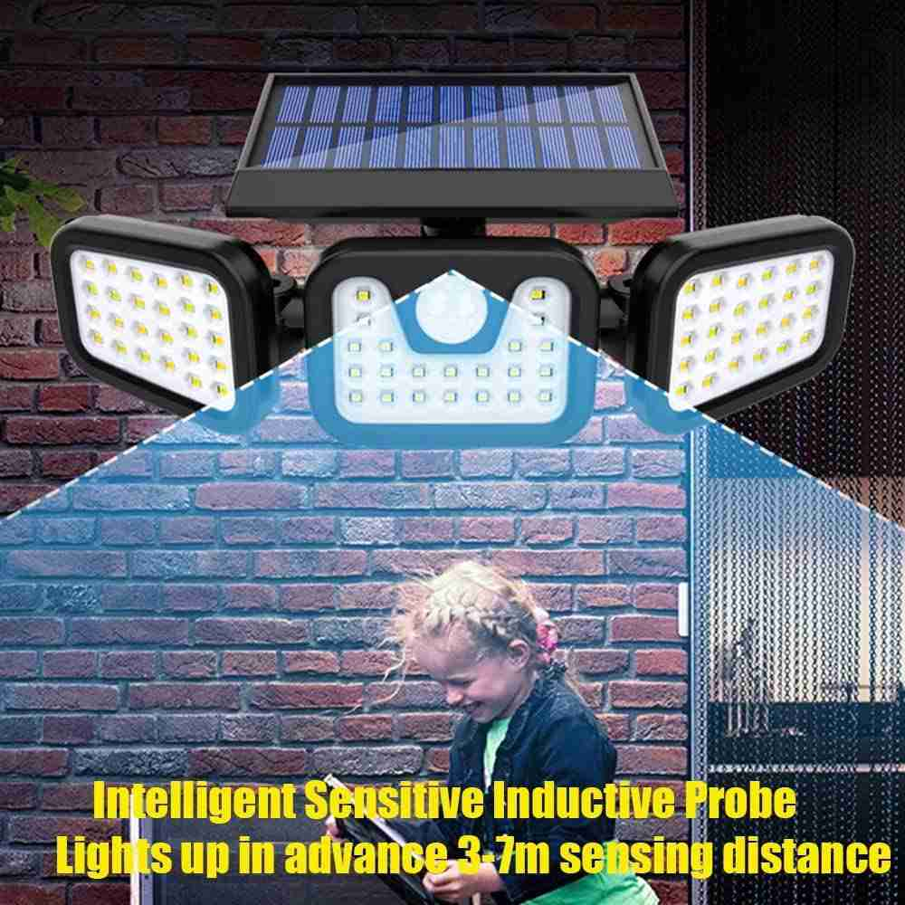 74 Led Solar Powered Pir Motion Sensor Lamp Outdoor Garden Security Wall Light (14)