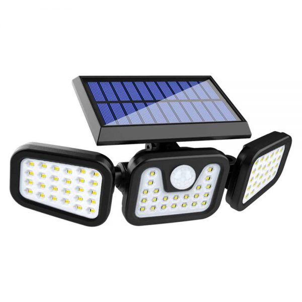 74 Led Solar Powered Pir Motion Sensor Lamp Outdoor Garden Security Wall Light (3)