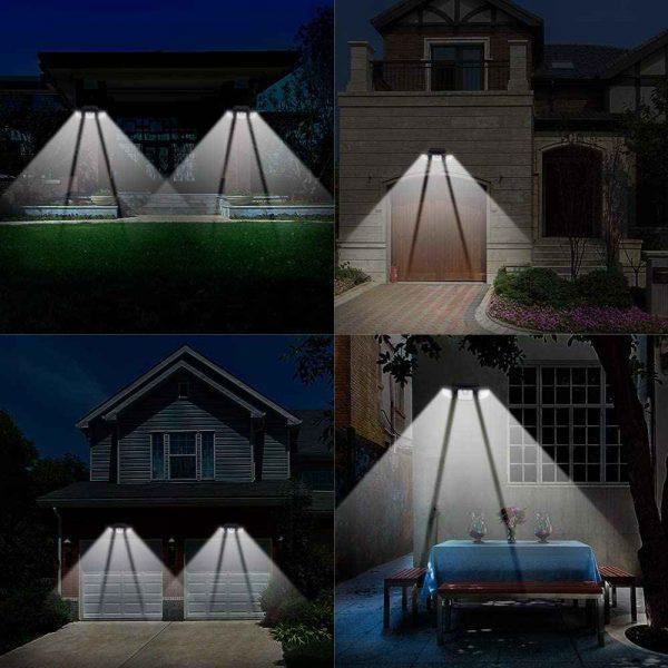 74 Led Solar Powered Pir Motion Sensor Lamp Outdoor Garden Security Wall Light (5)