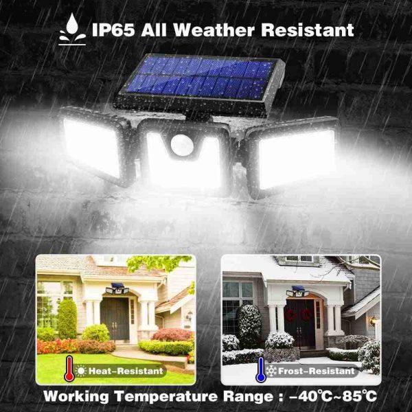 74 Led Solar Powered Pir Motion Sensor Lamp Outdoor Garden Security Wall Light (6)