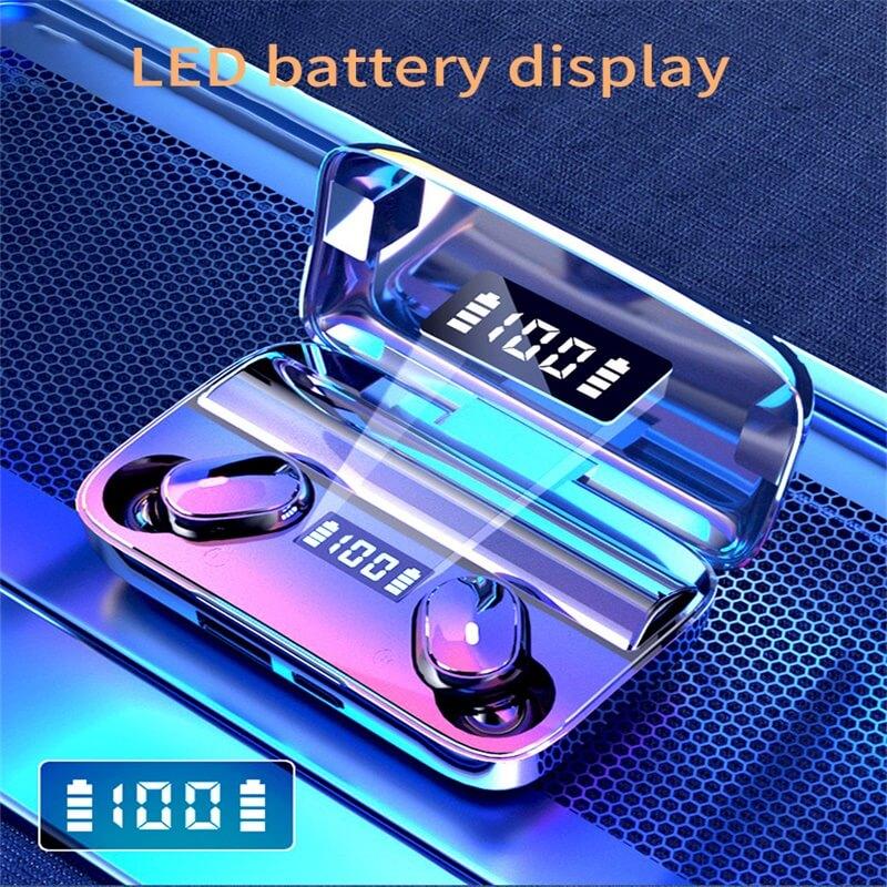 A9 Wireless Noise Cancelling In Ear Headphone Led Battery Display Mini Waterproof Earphone (3)