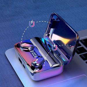 A9 Wireless Noise Cancelling In Ear Headphone Led Battery Display Mini Waterproof Earphone (4)