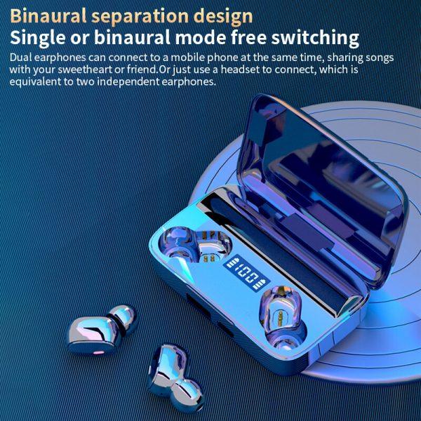 A9 Wireless Noise Cancelling In Ear Headphone Led Battery Display Mini Waterproof Earphone (5)
