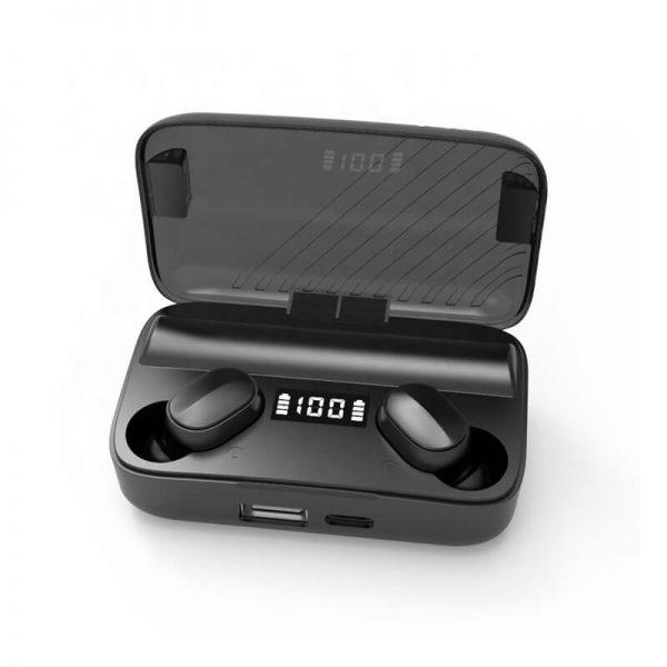A9 Wireless Noise Cancelling In Ear Headphone Led Battery Display Mini Waterproof Earphone (9)