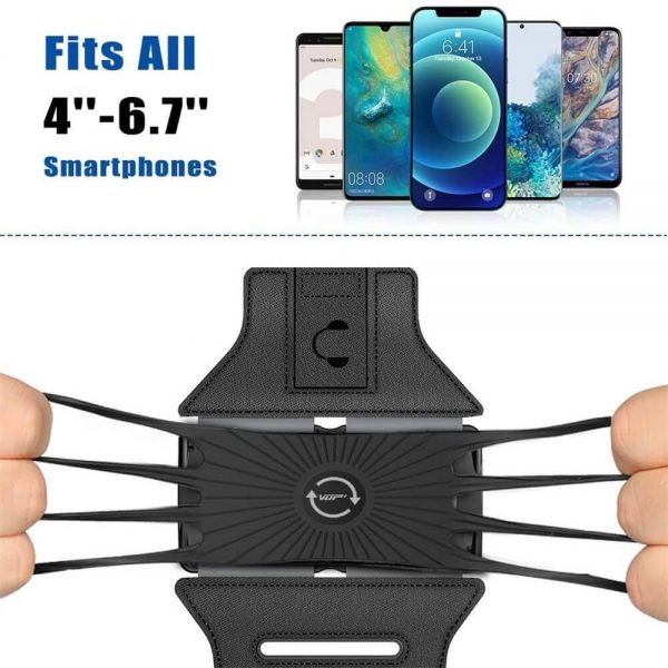 Adjustable Armband Case Cover Mobile Phone Holder For Sports Running Gym Traveling (4)