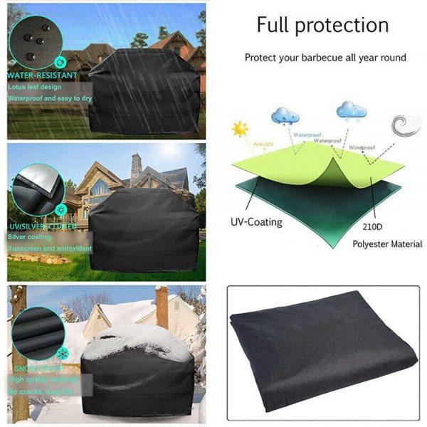 Bbq Covers Heavy Duty Waterproof Patio Barbecue Gas Smoker Grill Garden Goods Uk (2)