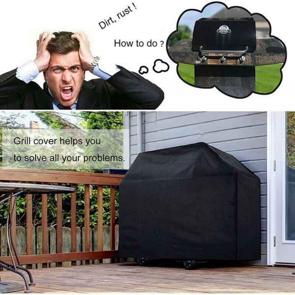 Bbq Covers Heavy Duty Waterproof Patio Barbecue Gas Smoker Grill Garden Goods Uk (3)