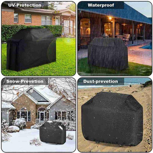 Bbq Covers Heavy Duty Waterproof Patio Barbecue Gas Smoker Grill Garden Goods Uk (4)
