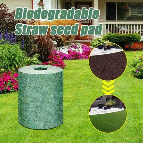 Biodegradable Grass Seed Mats Carpet Garden Backyard Lawn Pad Blanket (12)