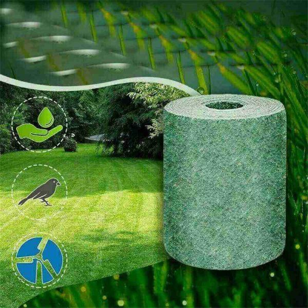 Biodegradable Grass Seed Mats Carpet Garden Backyard Lawn Pad Blanket (15)