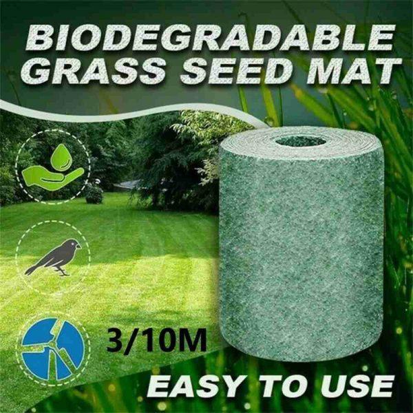 Biodegradable Grass Seed Mats Carpet Garden Backyard Lawn Pad Blanket (2)