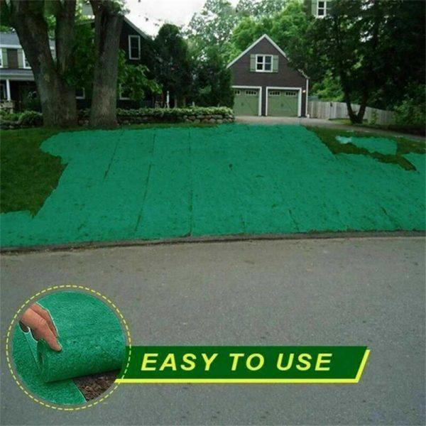 Biodegradable Grass Seed Mats Carpet Garden Backyard Lawn Pad Blanket (4)