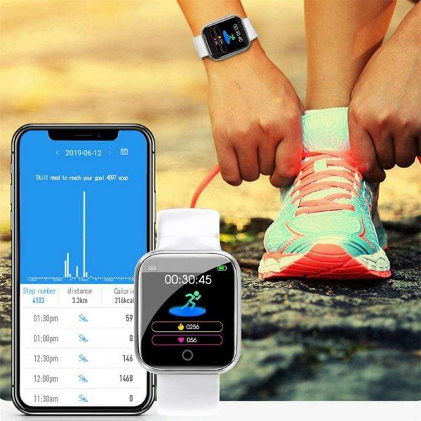 Bluetooth Smart Watch Fitness Tracker Bracelet Heart Rate Monitor Men Women (10)