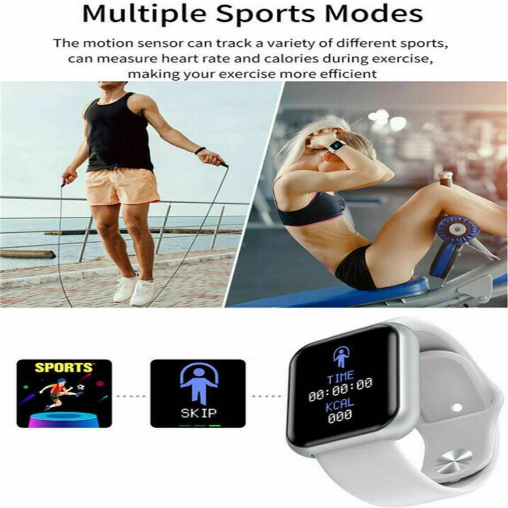 Bluetooth Smart Watch Fitness Tracker Bracelet Heart Rate Monitor Men Women (12)